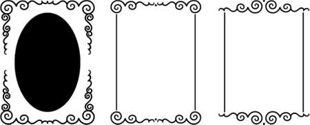 dingbats: Set of original vector decorative frames. This is a vector image - you can simply edit colors and shapes.