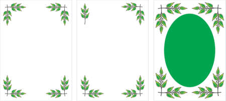 Set of original vector decorative frames. Laurel branches. This is a vector image - you can simply edit colors and shapes. Vector