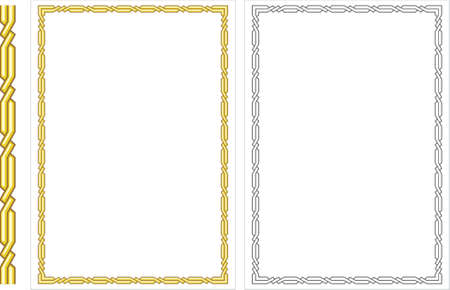 dingbats: Vector vertical decorative frame. This is a vector image - you can simply edit colors and shapes