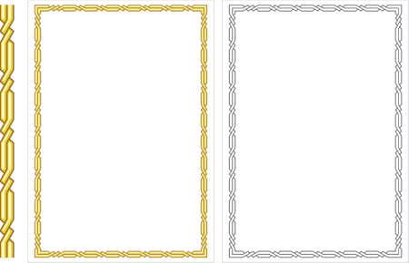 fancy border: Vector vertical marco decorativo. Este es un vector de imagen - puede simplemente modificar los colores y formas  Vectores