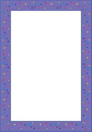 Vector vertical decorative frame. This is a vector image - you can simply edit colors and shapes. Vector