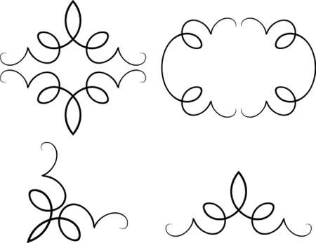 Set of original vector design elements. This is a vector image - you can simply edit colors and shapes. Stock Vector - 562459
