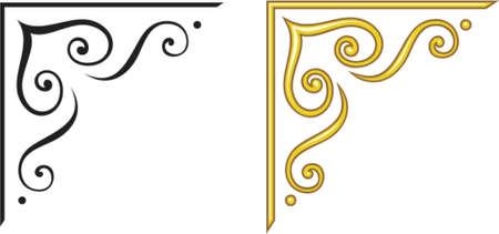 esquineros de flores: Vector de elementos de dise�o decorativo. Este es un vector de imagen - puede simplemente modificar los colores y formas.