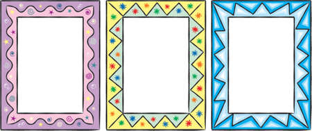 Set of original funny vector decorative frames. This is a vector image - you can simply edit colors and shapes Vector