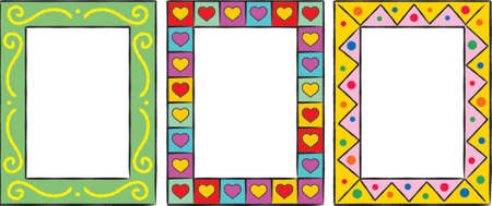 dingbats: Set of original funny vector decorative frames. This is a vector image - you can simply edit colors and shapes