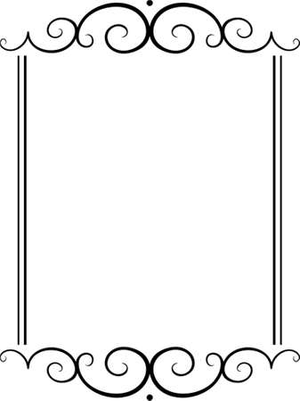 bookplate: Vector decorative frame. This is a vector image - you can simply edit colors and shapes. Illustration