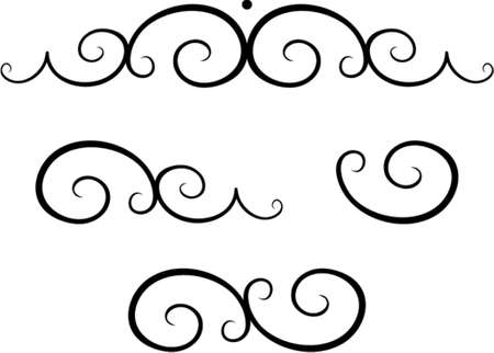 dingbats: Vector decorative design elements. This is a vector image - you can simply edit colors and shapes. Illustration