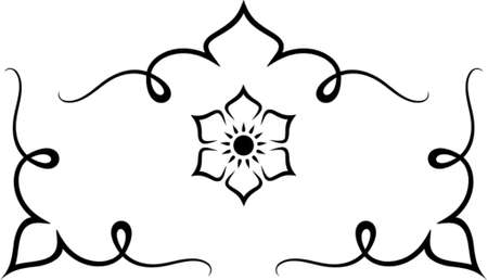 rosette: Set of original vector design elements. This is a vector image - you can simply edit colors and shapes.