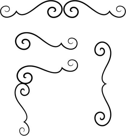 vector ornaments: Set of original vector design elements. This is a vector image - you can simply edit colors and shapes.