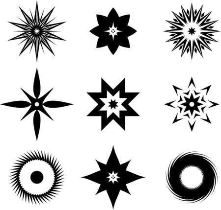 dingbats: Set of original vector design elements. This is a vector image - you can simply edit colors and shapes.