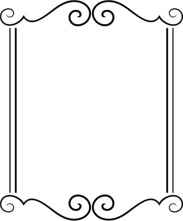 Vector decorative frame. This is a vector image - you can simply edit colors and shapes Stock Vector - 562494