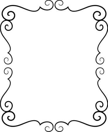 calligraphique: Vector cadre d�coratif. Il s'agit d'un vecteur d'image - vous pouvez simplement modifier les couleurs et les formes