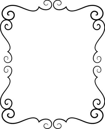 bookplate: Vector decorative frame. This is a vector image - you can simply edit colors and shapes Illustration