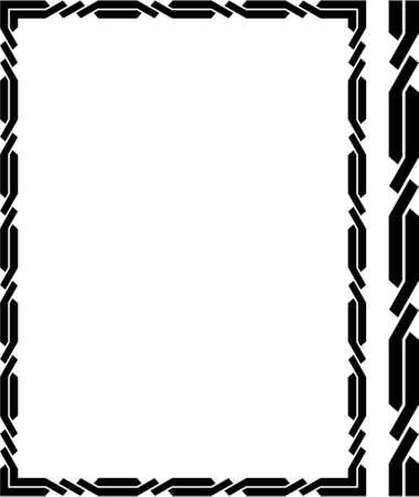 refine: Vector cornice decorativa. Questo � un vettore di immagine - puoi semplicemente modificare colori e forme.