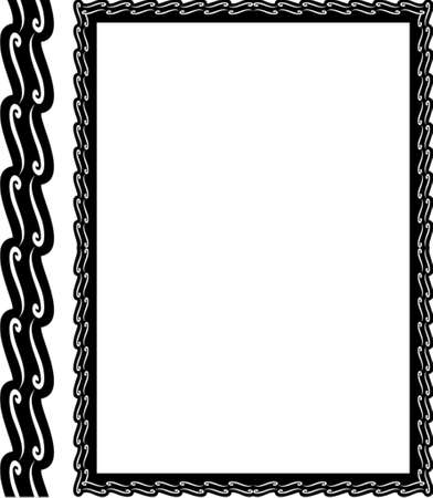 borderframe: Vector decorative frame. This is a vector image - you can simply edit colors and shapes. Illustration