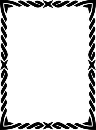 Vector decorative frame. This is a vector image - you can simply edit colors and shapes. Stock Vector - 562487