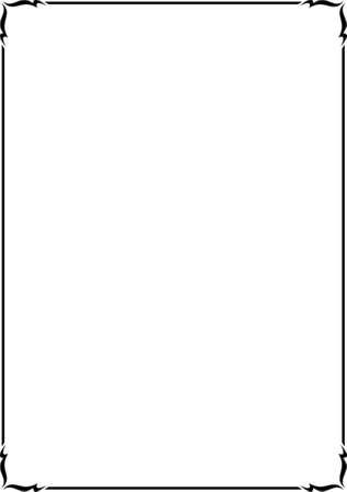 Vector decoratieve frame. Dit is een vector afbeeldingen - kunt u eenvoudig bewerken kleuren en vormen. Vector Illustratie