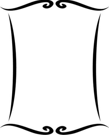 ornamentations: Vettore cornice decorativa. Questo � un vettore immagine - si pu� semplicemente modificare colori e forme.  Vettoriali
