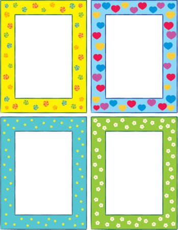 Set of original funny vector decorative frames. This is a vector image - you can simply edit colors and shapes. Vector