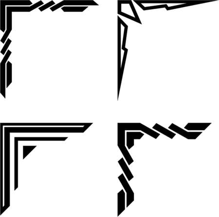 angles: Set of original vector corner ornaments. This is a vector image - you can simply edit colors and shapes.