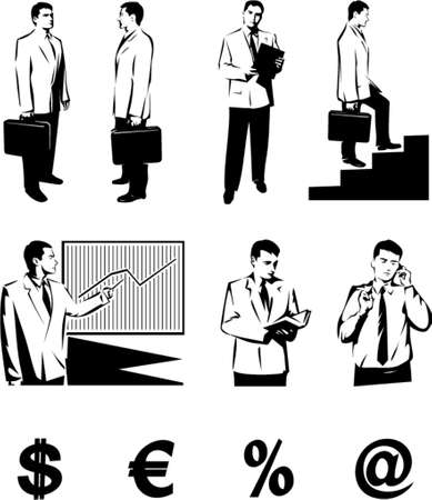 financial official: Business people. This is a vector image - you can simply edit colors and shapes