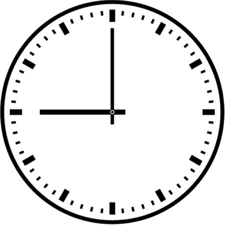 Wall clock. This is a vector image - you can simply edit colors and shapes Illustration