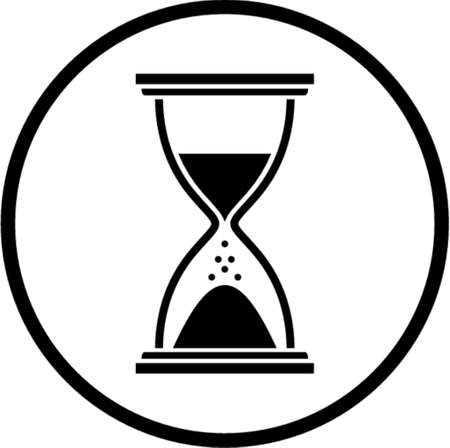 Hourglass. This is a vector image - you can simply edit colors and shapes
