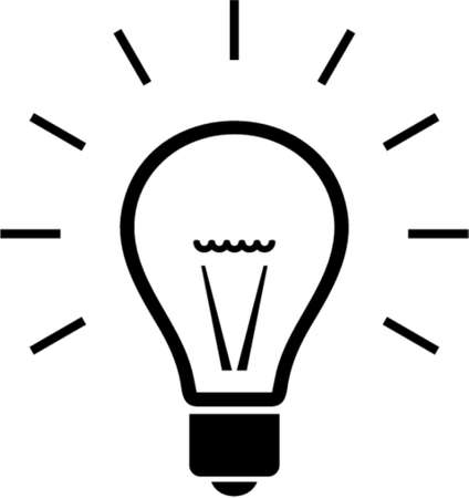 Bulb. This is a vector image - you can simply edit colors and shapes Illustration