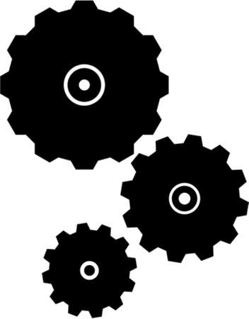 industrialization: Gears. Business metaphors. Vector image