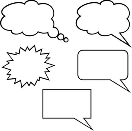 Callout Shapes (Speech Bubbles). This is a vector image - you can simply edit colors and shapes