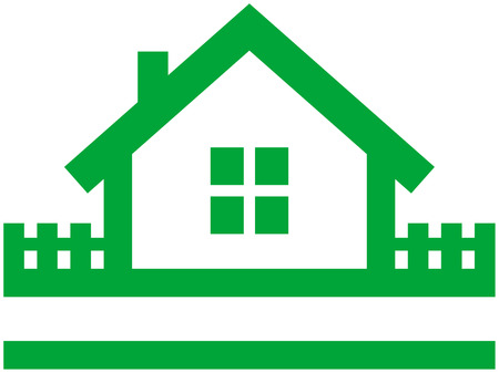 Small house vector icon Stock Vector - 4960632