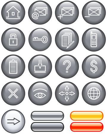 Web Icons Set (Vector) Stock Vector - 4960741