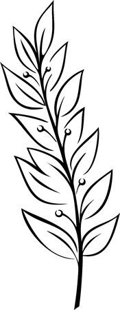 月桂樹枝 (ベクトル)
