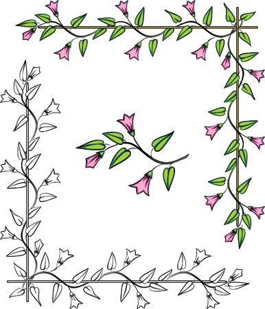 Vector floral corner ornament