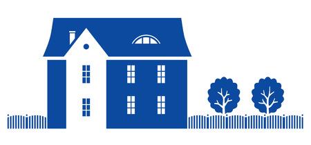 Ilustración de vector casa de país