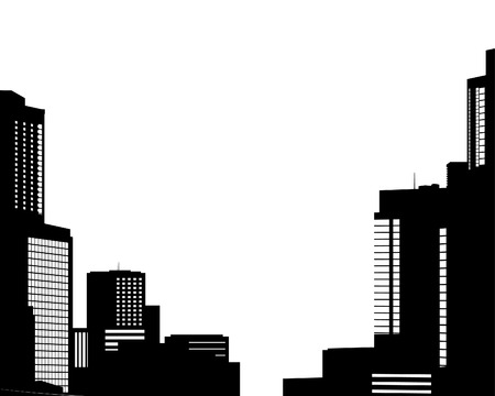 Big City Skyline. Vektor-Illustration