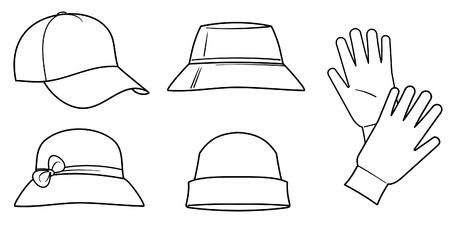 Des chapeaux et des gants
