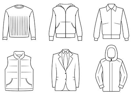 MENS CLOTHES Ilustración de vector