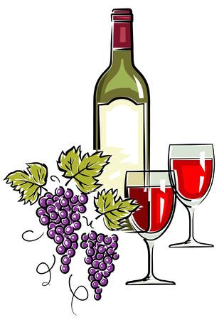 Wine – Vector Illustration