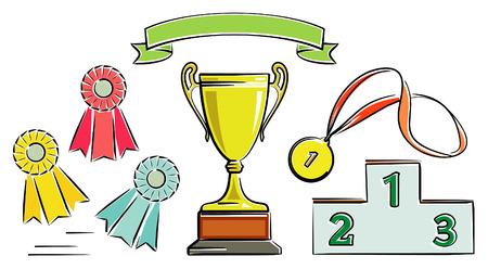 Awards illustration (Vector) Vectores