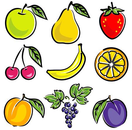 Ilustraciones Vectoriales de frutas