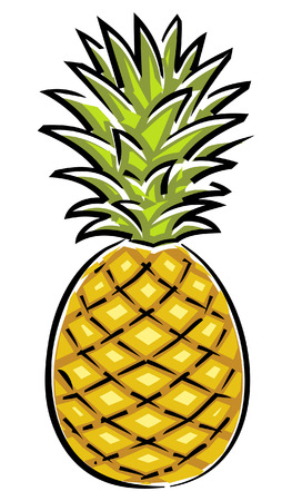 Pineapple (Vector) 일러스트