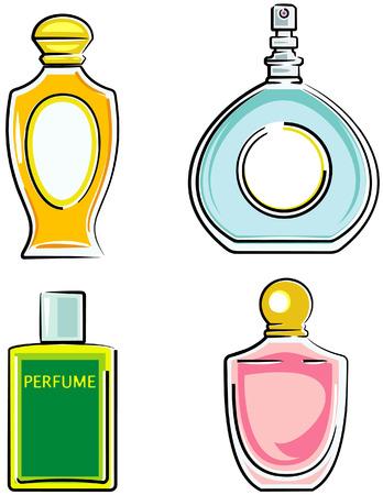 Parfumflesjes (vector) Vector Illustratie