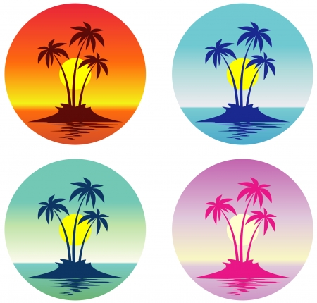 Tropical scene (Vector) Vectores
