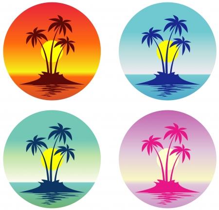 Tropische Szene (Vector)
