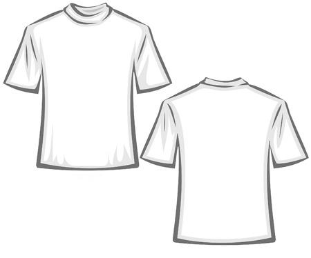 Blank T-shirts illustration Vectores