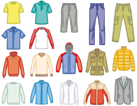 Men's clothes illustration Vectores