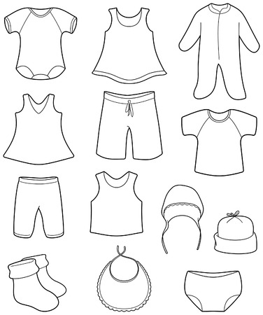 Children's clothes Vectores