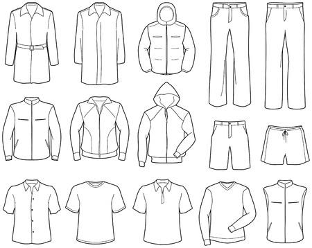 Mens casual kleren en kleding
