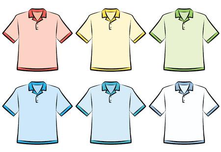 Polo shirt - Vector Illustration Vectores